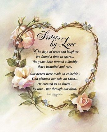 I love you all!,my sisters in Christ......one day We will meet.