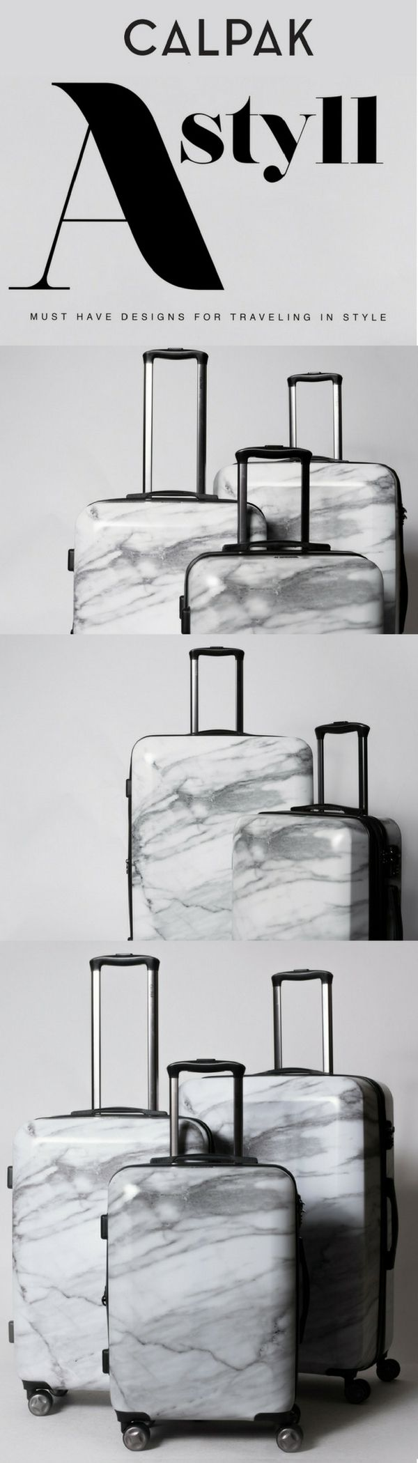 MUST HAVE Milk Marble Luggage Set for Traveling in Style