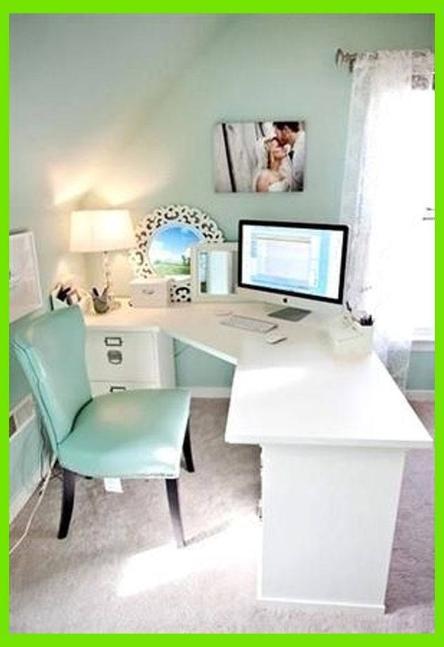Home Office Designing 101 Home Office Ideas Feminine Home Offices Home Office Decor Office Desk Decor