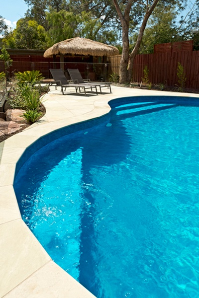 Kidney Shape Pool In Warrandyte With Two Steps Areas