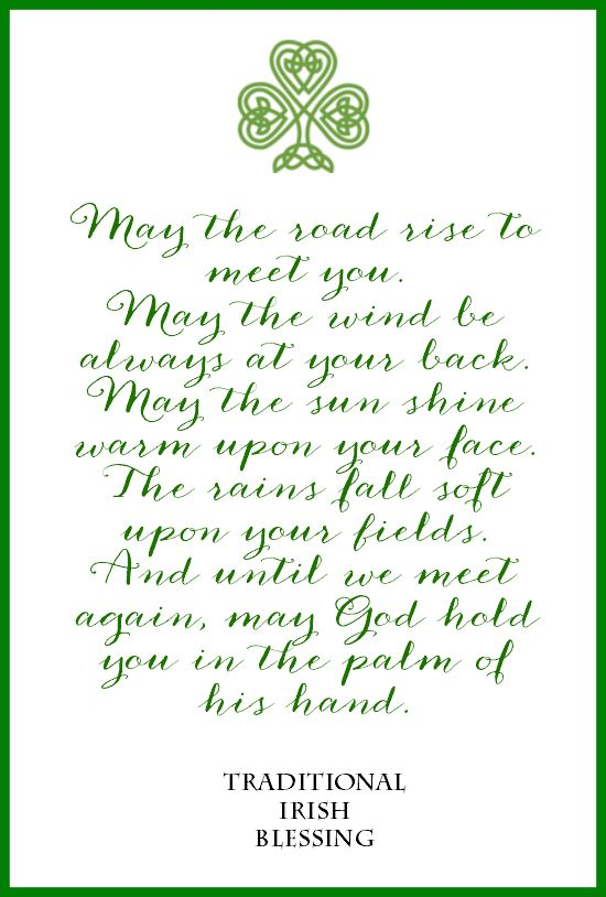 Irish Blessing Free Printable | May the Road Rise to Meet You Free Printable | St. Patrick's Day | DIY wall art | St. Patrick's Day decor | St. Patrick's Day ideas.