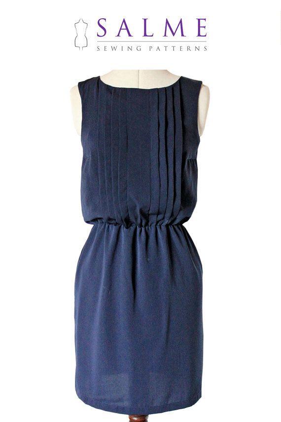 Sleeveless dress PDF sewing pattern