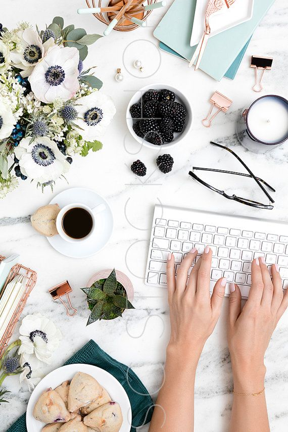 Elevate Your Brand With Styled Stock Photography For Creative Business  Owners. Take Off During The July Weekend Sale. Blue On Marble Desk  Collection.