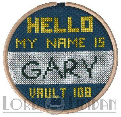 Hello my name is Gary. Hello my name is Gary. Hello... #fallout #gary #crossstitch @lordlibidan  https://lordlibidan.com/hello-my-name-is-gary-fallout-3-cross-stitch/pic.twitter.com/FPjM69g7N9