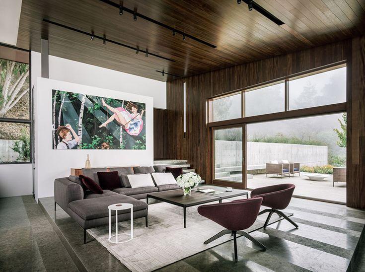 Magnifique maison contemporaine en californie avec une vue panoramique sur locéan
