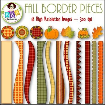 Fall clip art - Fall Border Pieces. 18 high resolution images @ 300 dpi. Plus 5 - 8.5 x 11 jpeg sample pages included. Mix and match these fall border pieces to fit your needs.View the preview for a closer look.CLICK NOW to view or PIN for later.