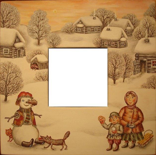 Gallery.ru / Снеговик - Зеркала - julia-yakusheva