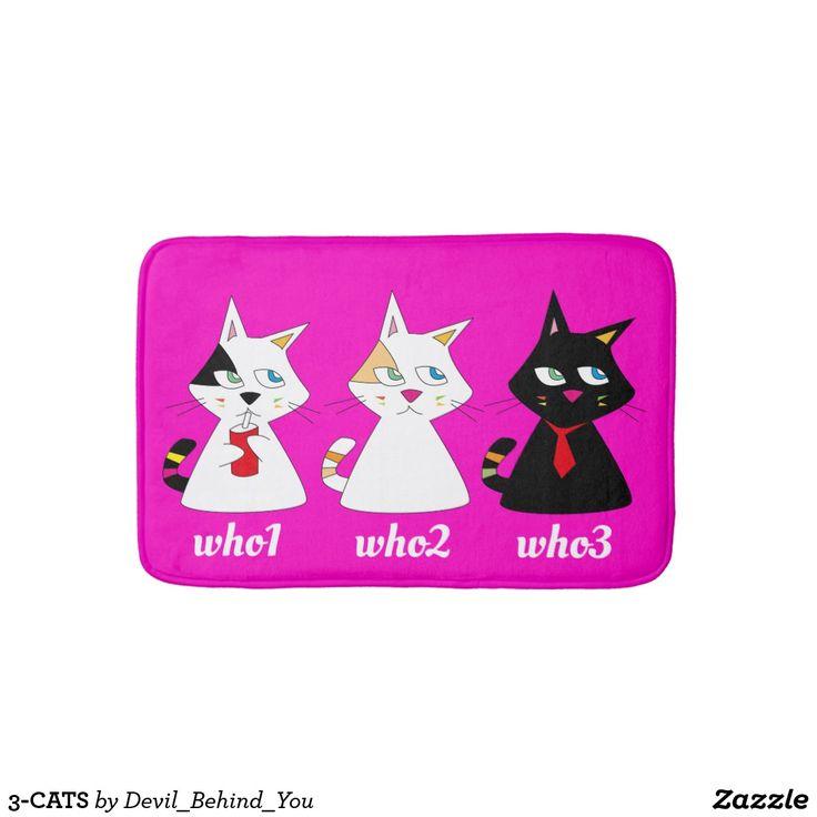 3-CATS BATH MAT