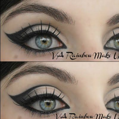 Fabulous Black 60s Eyeliner Make-up Ideas