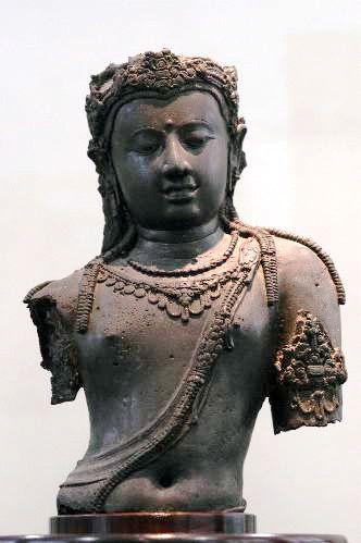 Bodhisattva, Srivijaya Bronze At National Museum Bangkok