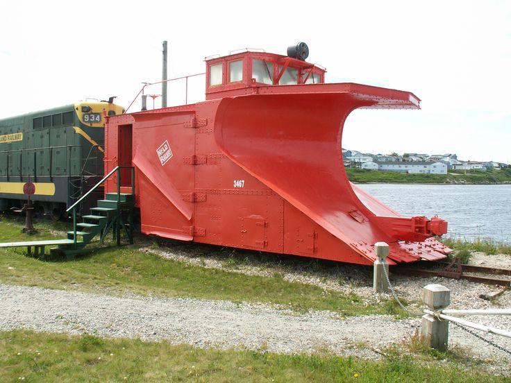 Newfoundland Railway snowplow, narrow gauge, at museum, Port aux Basques, Newfoundland.