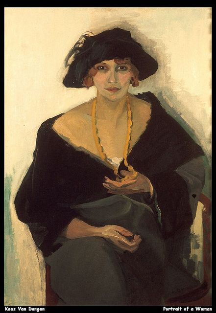 Kees van Dongen (Dutch, 1877 - 1968) Portrait of a Woman