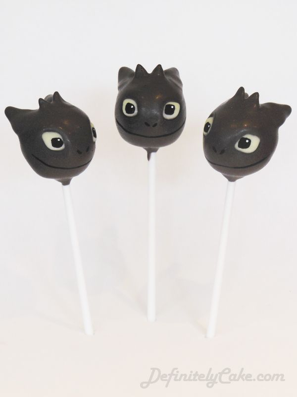 Toothless Cake Pops from the film How To Train Your Dragon