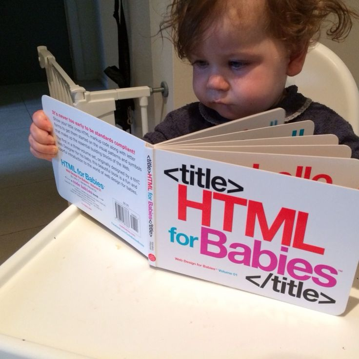 HTML for Babies Book #coolhunting #homehunting