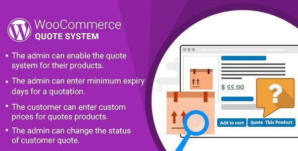 nice WordPress WooCommerce Quote Method Plugin (WooCommerce)