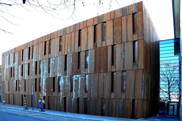 Magazin-ein Gebäude mit Rost-Fassade, óxido, fachada