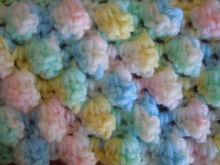 Knit Popcorn Stitch Baby Blanket : 17 Best images about Afghans Crochet on Pinterest Yarns, Afghan crochet pat...