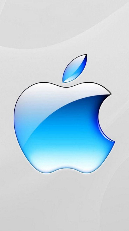 Blue Apple Logo Wallpaper - Bing images