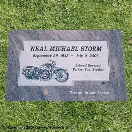 Single Flat Grave Markers | Personalized Single Grave Markers
