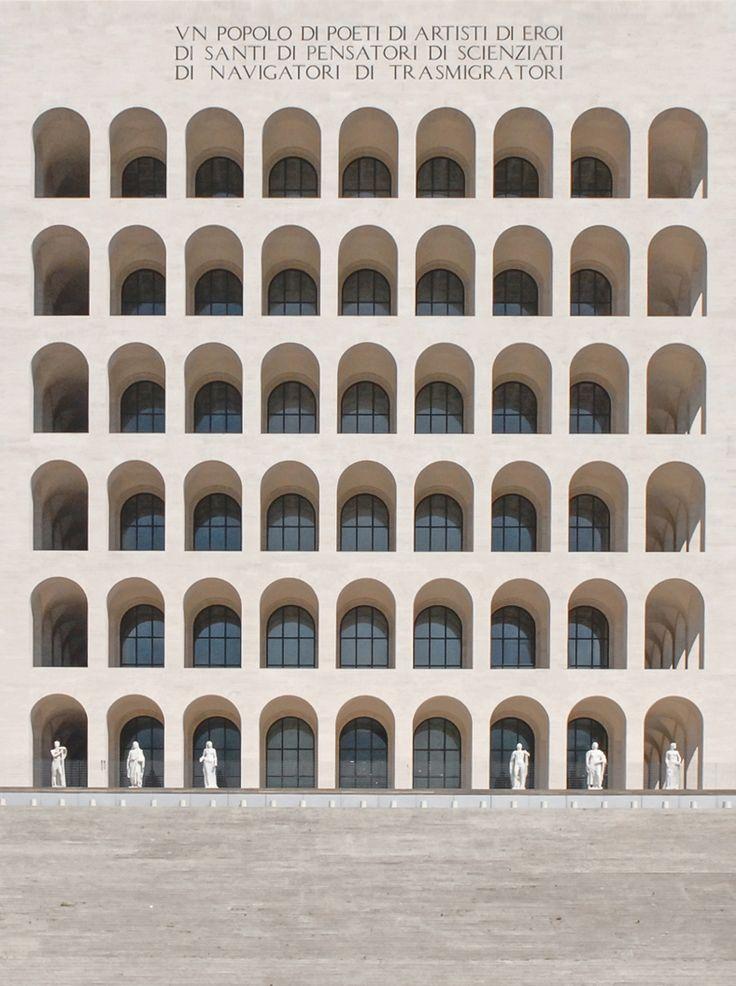 """scandinaviancollectors: """"Palazzo della Civiltà Italiana, Rome, Italy 1938-1943. Architects Giovanni Guerrini, Ernesto Bruno La Padula and Mario Romano. / Wikiwand """""""