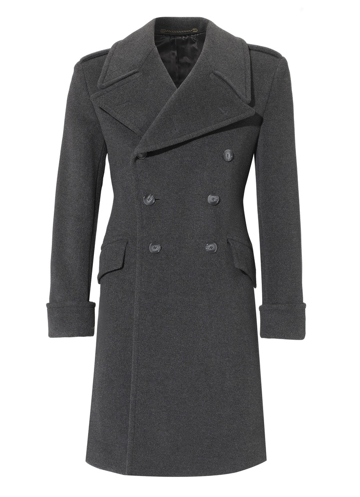Anthracite great coat slim fit crombie mens clothing