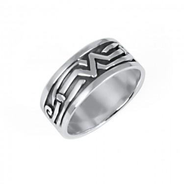 Inel de Argint pentru Barbati cu Model Oxidat - Marimea 11