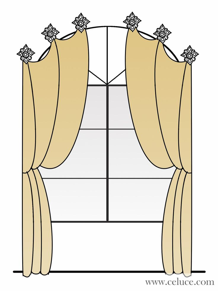 Drapes over Arch Window