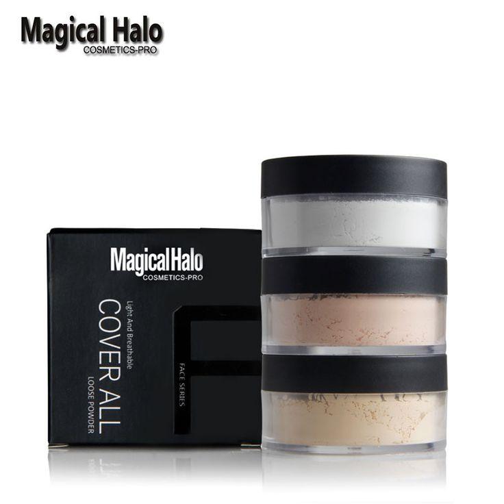 Halo mágico Polvo de Plátano de Larga Duración Brighten Polvos Sueltos Maquillaje Imprimación Ajuste de control de Aceite En Polvo Poudre Libre Natural