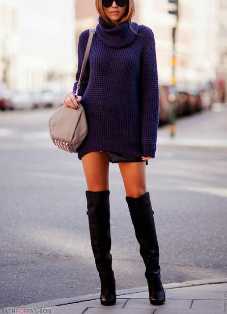 Street style // over the knee boots.