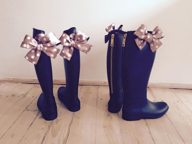 wellies, rain boots, bow, Rubberies