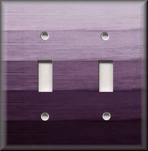 Light Switch Plate Cover Ombre Home Decor Plum Purple Hues