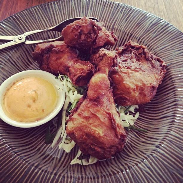 Crispy buttermilk fried chicken from Matt Moran's Chiswick restaurant.  Delish!