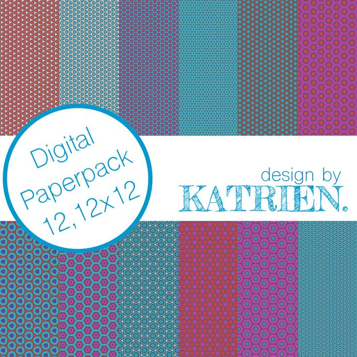 Digitale papier Pack, digitale Scrapbook papier, digitale patronen, Instant download, rood/blauw/roze (0002) door DesignbyKatrien op Etsy https://www.etsy.com/nl/listing/515362933/digitale-papier-pack-digitale-scrapbook