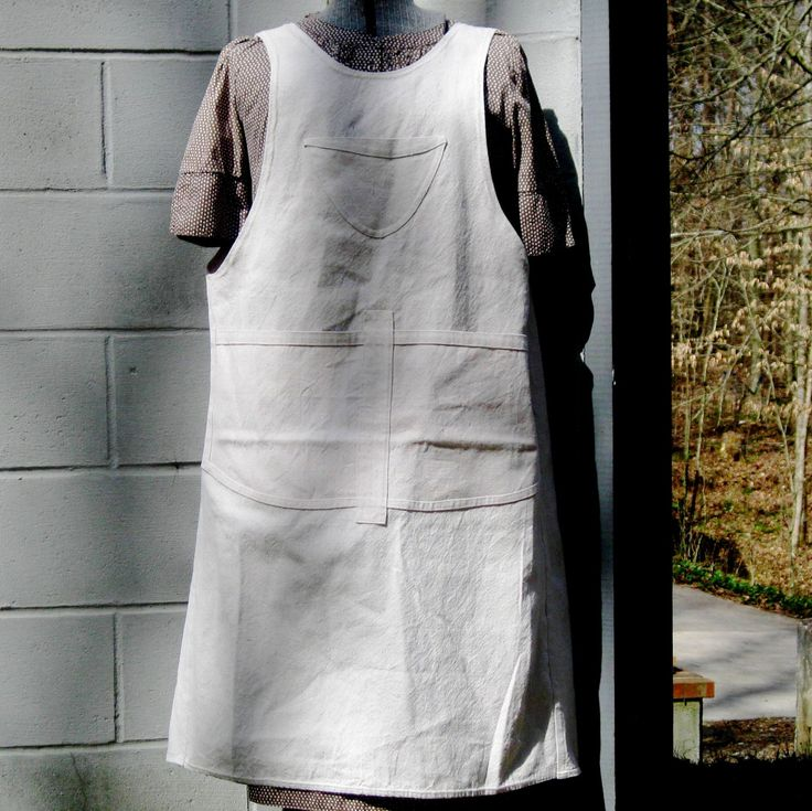 Artist apron, crafter apron, full coverage apron, teacher apron, florist apron, chef apron, potter apron, vendor apron, industrial apron by PrimaRelton on Etsy