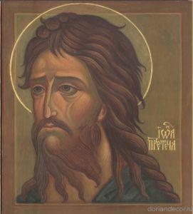 John the Baptist. Russian orthodoxal art. Contemporary icons. Иоанн Предтеча. Современная икона.