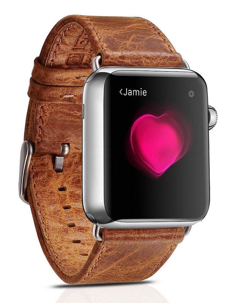 Apple Watch Banda, Futlex® de 42mm , banda para la muñeca de cuero vintage auténtico, repuesto de correa con broche para Apple Watch: Amazon.es: Relojes