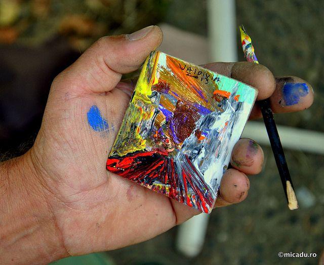 Painter in Valdivia, Chile
