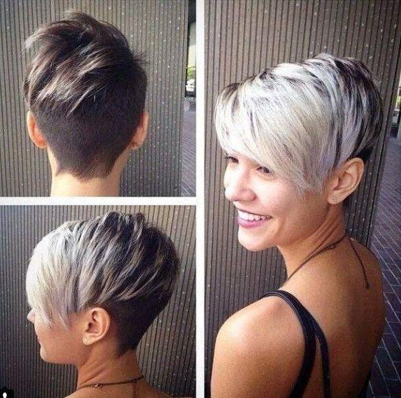 "10 hele prachtige korte kapsels waarop je direct verliefd zal zijn! [   ""Undercut short hair this is a pretty neat hair cut"",   ""not the cut but the color pattern for when I go half lavender"",   ""Undercut short hair--I"