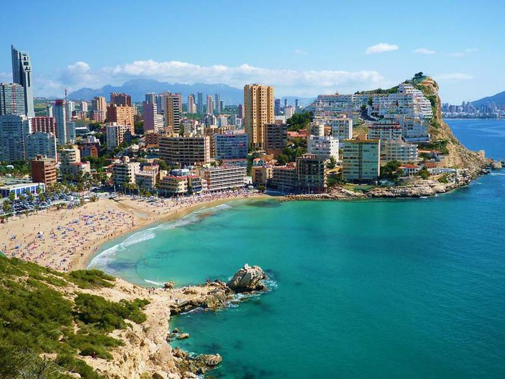 Alicante, Spain - seaside with the new city with skyscrapers #trivo