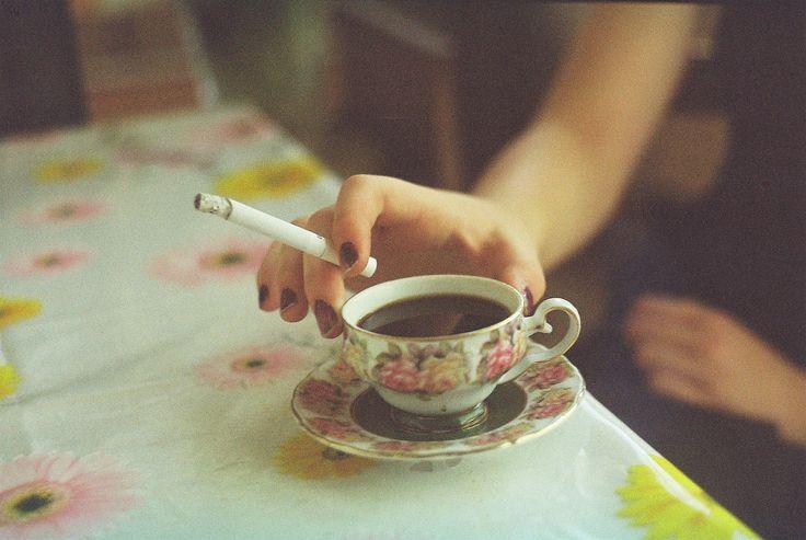 coffee/tea and a cig