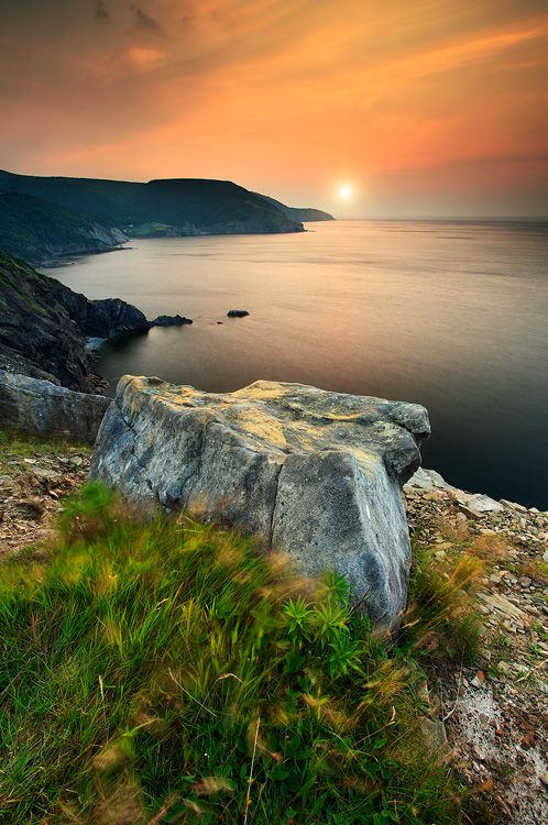This shot was taken in Meat cove which is located almost completely at the eastern tip of Nova Scotia. by Pat Di Fruscia
