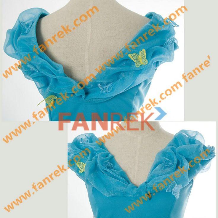 Cinderella 2015 Movie Cosplay Cinderella Lily James Dress