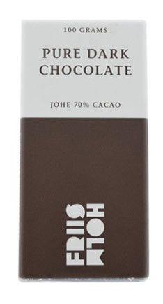 Friis-Holm Chokolade - Dark Johé chocolate 70% 100g