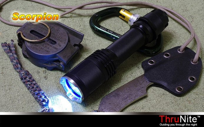 ThruNite Scorpion LED Flashlight! The most adaptable ground-breaking, and configurable tactical torch on the market today!