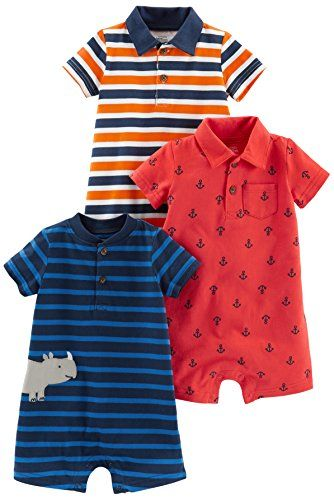 2c8dfeb52e2b Simple Joys by Carter s Baby Boys  3-Pack Rompers