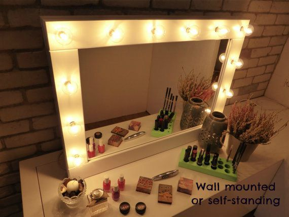 mirrors with lighting. make up mirror with lights vanity many colours wall hanging or self mirrors lighting