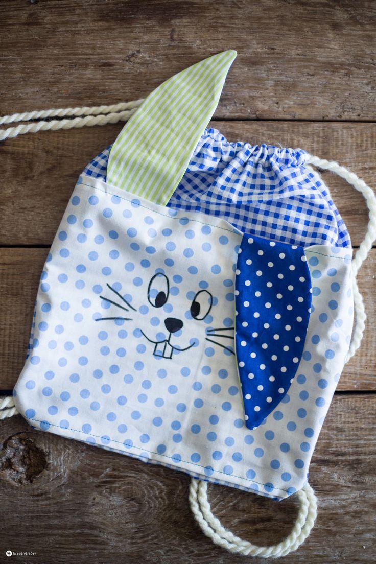 Seid ihr bei Kreativ für Kinder 2016 mit dabei? Wir zeigen euch die Anleitung für einen süßen DIY Hasenrucksack für Kinder zum Nachnähen - ganz easy!