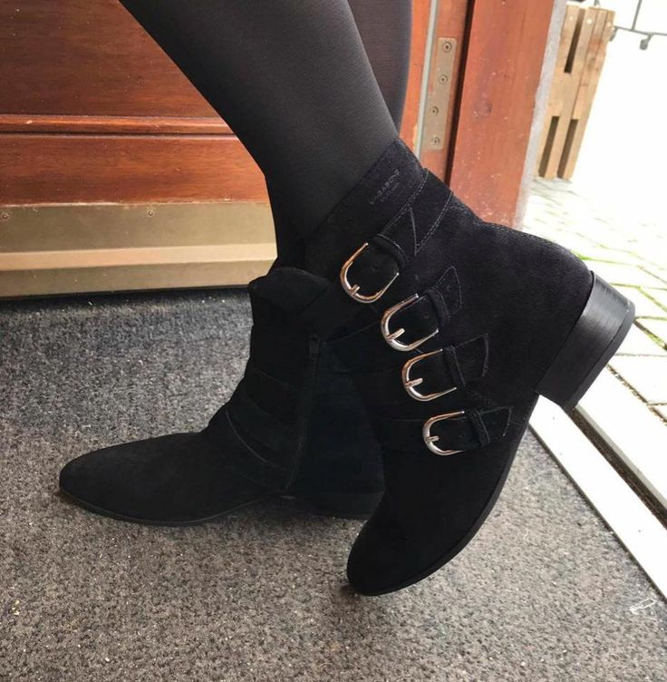Ankelstøvle med spændedetalje der giver støvlen et råt look.  Havanna Shoes