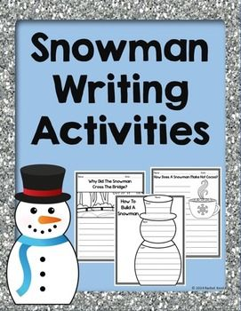 Snowman Writing Activities - Students will be able to write all about snowmen! These activities include how to build a snowman, a snowman checklist, creative snowman prompts, and more. These are great for writing workshop, centers, or just some fun writing practice!