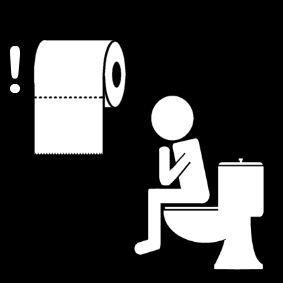 Pictogram Toiletpapier gebruiken
